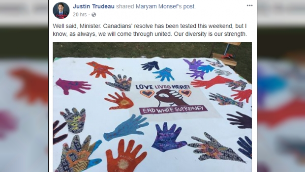 After Radical Islamist Attack In Edmonton, Trudeau Posts About White Supremacy