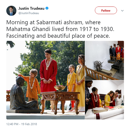 Trudeau Gandhi Tweet Fail